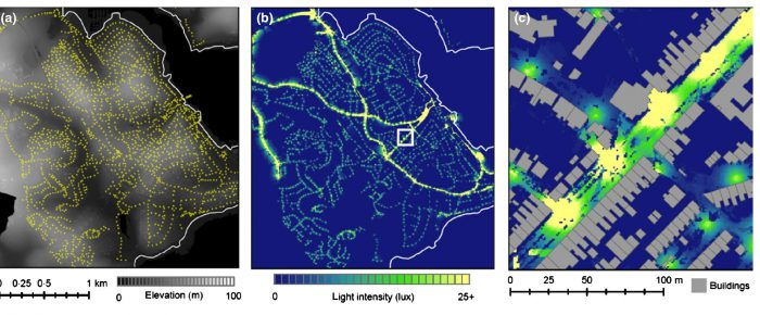 Mapping lights for ecology